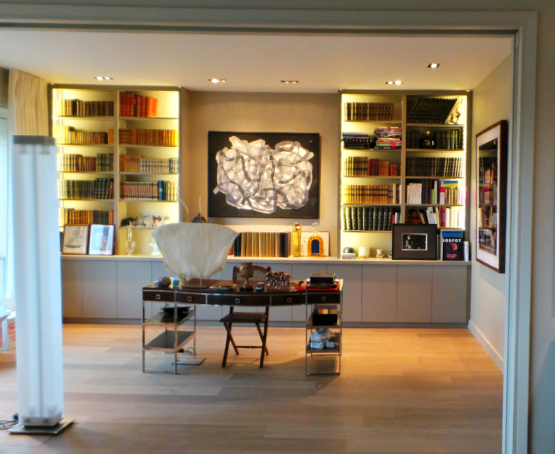 Menuiserie clenet biblioth que biblioth que sur mesure - Bibliotheque de salon design ...